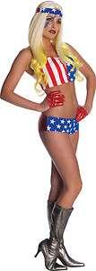 Lady Gaga Costume American Flag STD/Standard   upto size 12