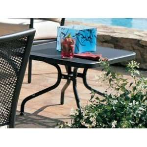 Emu Athena Steel 24 Square Metal Patio End Table: Patio