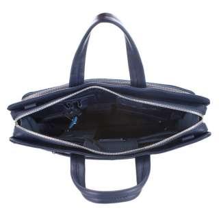 PIQUADRO SUN Slim Briefcase iPad Holder Blue Leather CA2685S36 Italian
