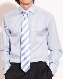 Savile Row Mens Puppy Tooth Slim Fit Formal Shirt in Single & Double
