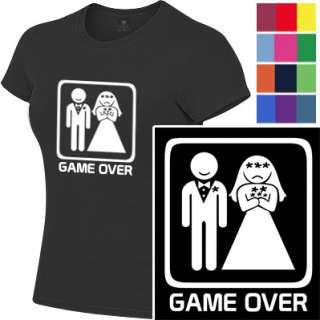 GAME OVER sad bride funny wedding hen women T Shirt