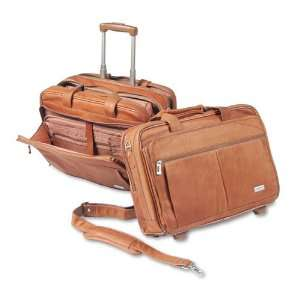 SOLO® Rolling Notebook Computer Case, Leather, 17 x 8 x