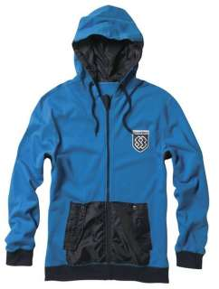 SPECIAL BLEND SNOWBOARD TWO TIME FULL ZIP HOODIE SOUTH BEACH BLUE MEN
