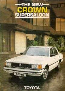 Toyota Crown 2800 Super Saloon 1982 84 UK Brochure