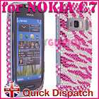 BLING DIAMOND CRYSTAL DIAMANTE CASE COVER FOR NOKIA C7