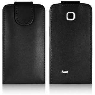 LEATHER FLIP CASE & STYLUS & SCREEN PROTECTOR FOR SAMSUNG GALAXY MINI