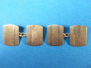 Pair Old Art Deco 9K 9ct Gold Cufflinks 6.8 grams