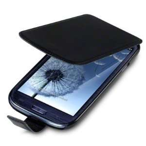 SAMSUNG i9300 GALAXY S3 BLACK PREMIUM PU LEATHER FLIP CASE