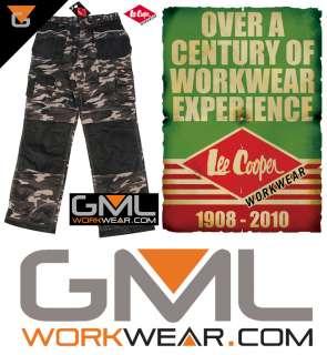 Mens Camo Combat Cargo Work Trousers: Lee Cooper