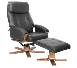 The stunning Manhattan Leather Swivel Recliner Massage Chair & Foot