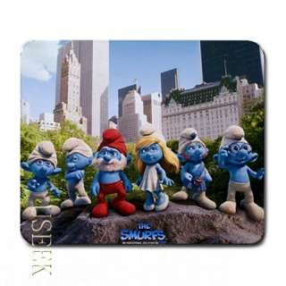 w1123 Mousepad Mat THE SMURFS smurf MOUSE PAD MAT CARTOON