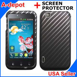 LG Maxx Touch E739 T Mobile MyTouch Carbon Fiber Image Hard Case Cover