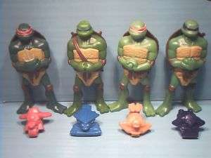 McDONALDS 5 TURTLES COMPLETE McD TEENAGE MUTANT NINJA TURTLES TMNT