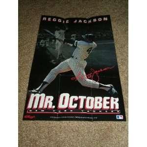 1993 Kelloggs Cereal Reggie Jackson/Mr. October Poster