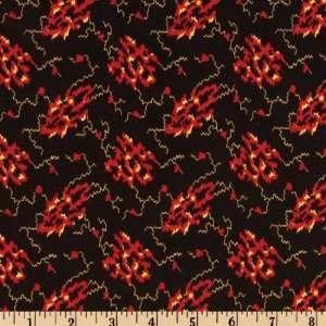 44 Wide Keystone Intaglia Black Fabric By The Yard: Arts
