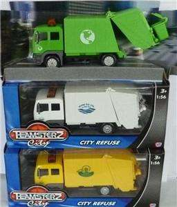 NEW TEAMSTERS TOY DIECAST DUST BIN LORRY REFUSE CART