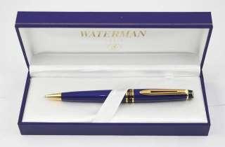 Waterman Expert Ballpoint Pen FRENCH BLUE GT NEW