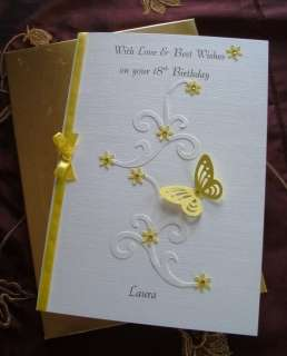 Handmade & Personalised, Boxed 16th 18th 21st Birthday Card A5 Girl