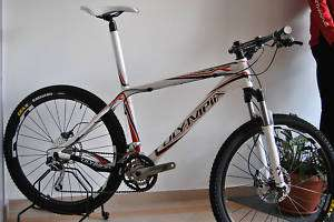Bicicletta Olympia MTB Mod.THOR Carbon White Tag.M