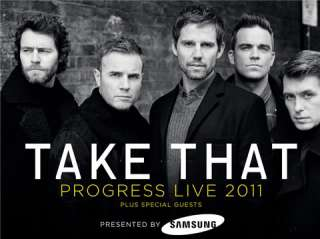 TAKE THAT PROGRESS LIVE TOUR 2011   DVD PRE ORDER