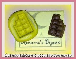 Stampini in silicone per fimo cioccolato con morso