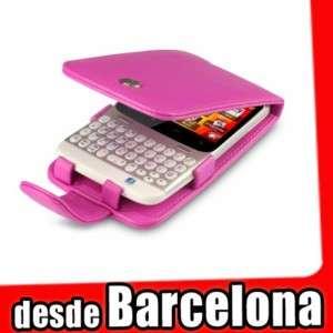 Funda Cuero/Piel HTC ChaCha Cha Cha color ROSA FUCSIA
