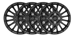 13 BLACK LIGHTNING CAR WHEEL TRIMS COVERS HUB CAPS SET