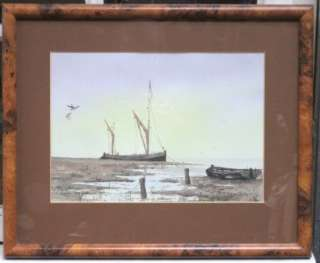 WATERCOLOUR PAINTING NAUTICAL BOATS SEA ALAN WHITEHEAD ENGLISH