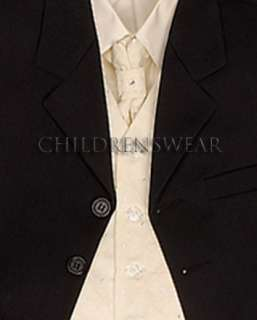 Boys Ben Black Suit & Cream Waistcoat Wedding Age 5
