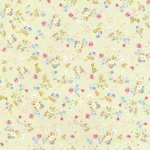 Doll House  Wallpaper Flower Designs Rococo Green h76