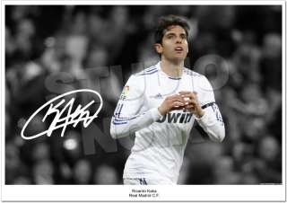RICARDO KAKA SIGNED PHOTO AUTOGRAPH REAL MADRID 2