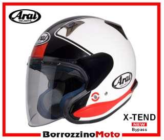 CASCO JET ARAI 2011 X TEND BYPASS BIANCO ROSSO BLU XL