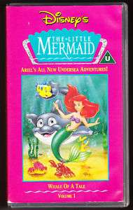 DISNEY   THE LITTLE MERMAID   WHALE OF A TALE   VHS PAL