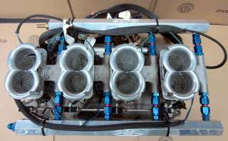 Inglese Weber SBC Intake w/ TWM DCNF EFI Throttle Bodies & GM Sensors