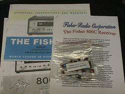 Fisher 800 C Vacuum Tube Receiver Restoration Kit