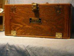 ANTIQUE   Keystone OAK MACHINISTS Hobby WOODEN CHEST