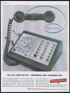 1959 Western Electric Call Director Telephone Print Ad