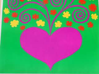 LOVE MADE VISIBLE 60s FLOWER POWER POSTER KAHLIL GIBRAN