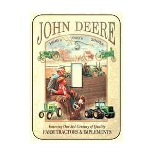 John Deere Farm Tractor Steel 1 Toggle Light Switch Plate Wall Plate