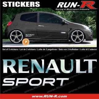 Pegatina Renault cromo   Clio Twingo Megane   RE12C