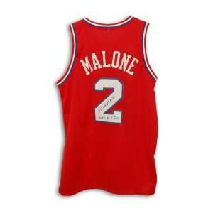 Moses Malone Autographed Uniform   with 2001 HOF