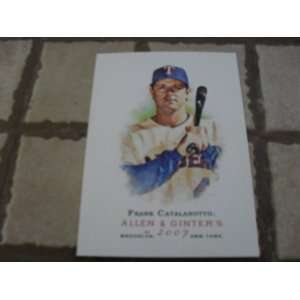 2007 Topps Allen & Ginters Frank Catalanotto #198 Card