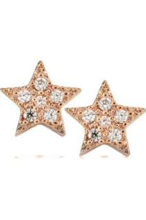 Lee Angel Rose gold plated crystal star earrings   50% Off Now at THE