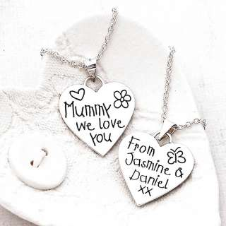 personalised silver love you heart necklace by indivijewels