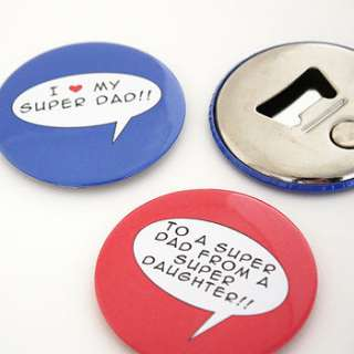 personalised super hero magnet bottle opener by studio sweepings