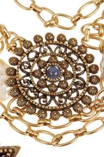 Oscar de la Renta 24 karat gold plated multi strand necklace   65% Off