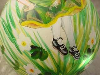 Glass Irish Step Dancer Dancing Girl Christmas Ornament NEW Living