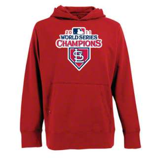 St. Louis Cardinals Red 2011 World Series Champions Signature Hooded