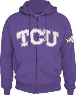 TCU Horned Frogs Vintage Campus Full Zip Fleece Hoodie