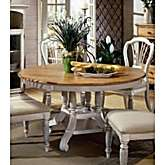 Hillsdale Furniture Wilshire Round/ Oval Dining Table in Antique White
